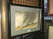 Sale 8771 - Lot 2061 - D M Coombe - Storm watercolour, 26 x 36cm (frame) signed -