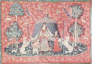 Sale 8848 - Lot 1062 - Tapestry of the Lady & the Unicorn, after the Flemish Medieval masterpiece