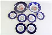 Sale 8931B - Lot 678 - Continental Blue Glazed Plates Dishes And Centrebowls
