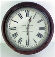 Sale 8972 - Lot 21 - An Ingram Brothers, Ansona Wall Clock (Untested Sold As Found) (Dia 40cm)