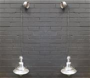Sale 9043 - Lot 1041 - Pair of Industrial Style Hanging Light Fittings (D:32cm)