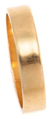 Sale 9090J - Lot 303 - AN 18CT GOLD BAND, 3.9mm wide of plain form, wt. 3.36g.