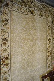 Sale 8115 - Lot 1212 - Indian Made Rug in Ivory Tones (272 x 190cm)