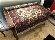 Sale 8205 - Lot 51 - A Persian woollen carpet with floral motif with thick border on beige ground, approx 200 x 123cm
