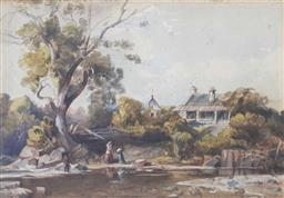 Sale 8473A - Lot 72 - Artist Unknown, Australian School - House by the River, possibly Georges River