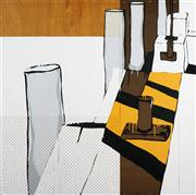 Sale 8549 - Lot 562 - Jasper Knight (1978 - ) - Yellow & Black Water, 2005 150 x 150.5cm