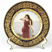 Sale 8562R - Lot 99 - Antique Royal Vienna Echo Handpainted Plate (D: 26cm)