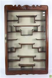 Sale 8603 - Lot 95 - Chinese Rosewood Wall Display Cabinet