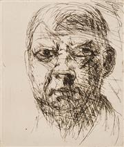 Sale 8665 - Lot 580 - Arthur Boyd (1920 - 1999) - Untitled (Portrait) 30 x 25.5cm (sheet: 53 x 37.5cm)