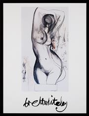 Sale 8782A - Lot 14 - Brett Whiteley,  Nude, 1995 offset lithograph, frame size 89 x 68cm