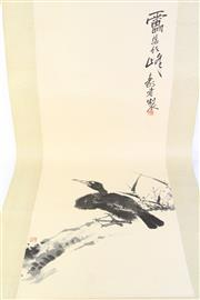 Sale 8783 - Lot 179 - Chinese Scroll Depicting Birds