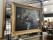 Sale 8910 - Lot 2022 - A F Jury - Still Life, Roses oil on canvas, 44 x 54cm (frame), signed