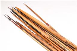 Sale 9128 - Lot 18 - Vintage PNG tribal spears and arrows (15) (avg L:120cm)
