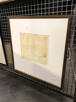 Sale 9163 - Lot 2012 - Paul Delprat Girl visited by Wonderful Animal etching and aquatint ed. 3/20 47 x 47cm (frame)