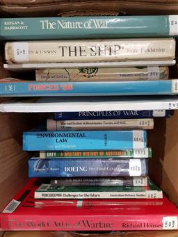 Sale 9176 - Lot 2348 - Box of naval books from the HMS Creswell