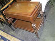 Sale 7933A - Lot 1158 - Oak Tiered Trolley with Lift Out Tray