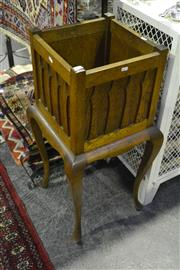 Sale 8058 - Lot 1046 - Early C20th Oak Plant Stand on Cabriole Legs