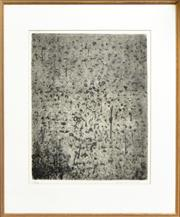 Sale 8274 - Lot 565 - Fred Williams (1927 - 1982) - Forest of Gum Trees, 1965-6 34.5 x 27cm