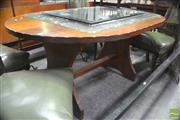 Sale 8307 - Lot 1091 - Arts & Crafts Oval Top Timber Table