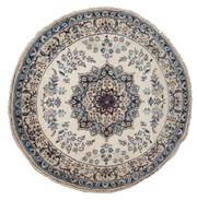Sale 8370C - Lot 23 - Persian Round Nain Silk & Wool 200cm x 200cm