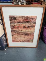 Sale 8563T - Lot 2169 - Eva Marie Barry Dartmoor Framed Collagraph Print SLL; from a collection of his signed & unsigned works