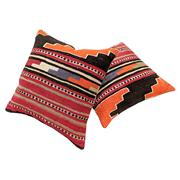 Sale 8761C - Lot 18 - A Pair of Vintage Turkish Kilim Cushions, Wool, 50x50cm, RRP $350