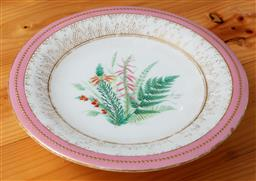 Sale 9120H - Lot 175 - An early English porcelain raised dish with pink and gilt border, impressed K mark to base,  Diameter 24cm