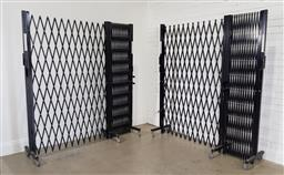 Sale 9188 - Lot 1610 - Two Section Iron Telescopic Screen