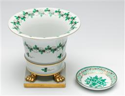Sale 9190 - Lot 4 - A Herend footed urn (H:13cm) together with a small Austrian dish (Dia:8.5cm)