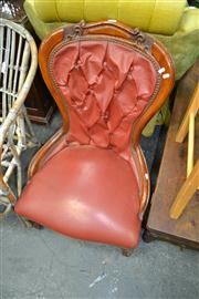 Sale 8050B - Lot 35 - Late Victorian Style Beech Ladies Chair