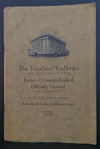 Sale 8176A - Lot 85 - Blaxland Galleries. Official Opening 16th September 1929. 24 pages