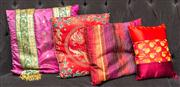 Sale 8222 - Lot 78 - A quantity of four cushions, all bright polychrome Film Provenance; Moulin Rouge, 2001