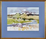 Sale 8382 - Lot 508 - Frank McNamara (1916 - 1995) - Murrumbidgee near Yass 49 x 67.5cm