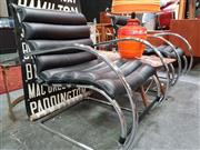 Sale 8476 - Lot 1017 - Pair of Mies Van Der Rohe Leather Upholstered Chrome Based Lounge Chairs