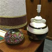 Sale 8643 - Lot 1118 - Two 1960s Ceramic Lamps