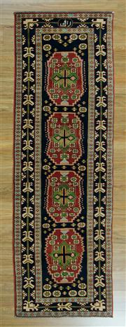 Sale 8665C - Lot 100 - Kazak Runner 253cm x 80cm