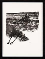 Sale 8782A - Lot 16 - Sidney Nolan, Carcass, lithograph, signed lower right, edition 49/70 frame size 88 x 68cm