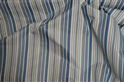 Sale 8872F - Lot 55 - Sandersons Fabric: Candy Stripe Fabric - Cobalt 232308, 52% Cotton, 48% Polyester, 139cm wide, 10metres, rrp.$60/m