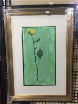Sale 9130 - Lot 2078 - Kaye Mahoney Floral Still Life, 1993, oil on board, frame: 67 x 47 x 3 cm, signed and dated lower right -