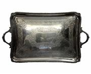 Sale 7937 - Lot 75 - English Hallmarked Sterling Silver Tray