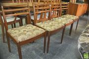 Sale 8310 - Lot 1087 - G-Plan Set of 4 Dining Chairs