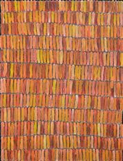 Sale 8382 - Lot 510 - Jeannie Mills Pwerle (1965 - ) - Bush Yam 96 x 72cm