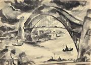 Sale 8401 - Lot 532 - Francis Lymburner (1916 - 1972) - Sydney Harbour and Other Sketches various sizes