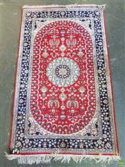 Sale 8566 - Lot 1740 - Red and Blue Tone Rug (151 x 94cm)