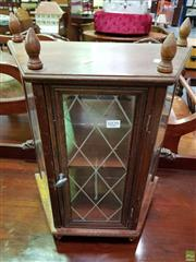 Sale 8570 - Lot 1029 - Wooden Ornamental Display Cabinet with Mirrored Back & Hinged Door