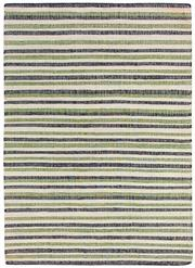 Sale 8651C - Lot 68 - Colorscope Collection; Flatweave Jute and Cotton - Black/Green Stripe Rug, Origin: India, Size: 160 x 230cm, RRP: $499