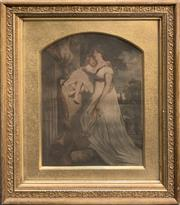 Sale 8686 - Lot 2023 - A Georgian chromolithograph of Lady Midlay painted by J Hoppner Esq, engraved by the W. Say, 59 x 51cm (frame size)