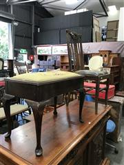 Sale 8893 - Lot 1080 - Piano Stool and Chair