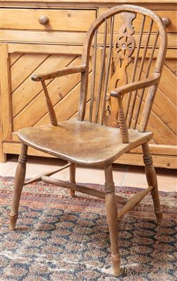 Sale 9120H - Lot 177 - An elm windsor chair of slender proportions, Height 89cm x Width 47cm
