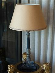 Sale 7984 - Lot 79 - An period Empire style lamp on marble base, height 80cm